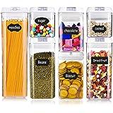Hbsite Boite Hermetique Alimentaire Plastique, Boite Conservation Alimentaire Empilable, avec étiquettes et marqueurs,pour la