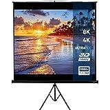 Écran de projection enroulable (203x203cm / 113 inch), compatible 3D HD 4K | avec ou sans trépied | Cinéma de présentation ajustable 1: 1 4: 3 16: 9 | Écran de cinéma, Cinéma maison, Présentations sur le lieu de travail