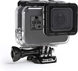 SupTig Fall Gehäuse Wasserdicht Fall für GoPro Hero 5GoPro Hero 6GoPro Hero 2018Action Kamera Wasserdicht 147FT (45meters)