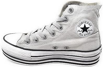 Converse 56912 Sneaker Pelle Chuck Taylor Platform Limited Pelle Grigio