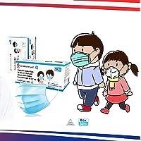 Enfant- 50 Masques Chirurgicaux - 3 Plis Jetables - Certifiés CE - Type II - Norme EN14683:2019 + AC:2019-3 Couches…