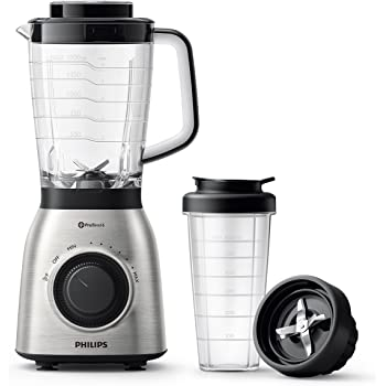 Philips Viva Collection HR3553/00 700W Licuadora (Batidora de Vaso, Negro, Metálico