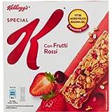 Kellogg's Barrette di Cereali con Frutti Rossi, 129g