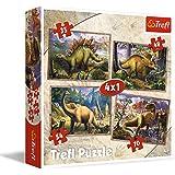 Trefl - 34249 - Puzzle - 4 en 1 - Dinosaurier