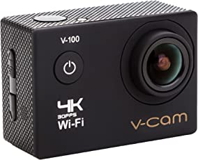 V-CAM Sports Action Camera 4k Wifi 16 MP with High Speed with IP68 waterproof Case,Durable Waterproof to 100 Feet Including 22 Accessories