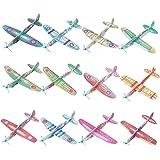 FORMIZON 24 PCS Aerei di Carta, Aeroplani Giocattolo in 12 Diversi Colore, Aeroplani Gliding Perfetti Come Regalini da Festa,