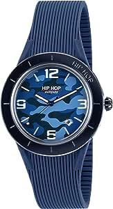 Orologio HIP HOP uomo X MAN quadrante verde e cinturino in silicone, metallo nero, movimento SOLO TEMPO - 3H QUARZO