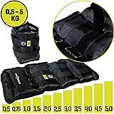 Sporttrend 24 | Gewichtsmanschetten 0,5-5,0kg im Set | maximaler Halt durch starken Klettverschluss | für Kraft und Ausdauerübungen