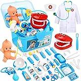 Fivejoy Valigetta Dottore Bambini, 43pz Gioco Dottore Bambini - Dottore Giochi di Ruolo Bambini, Kit Dottore Medico Giocattol