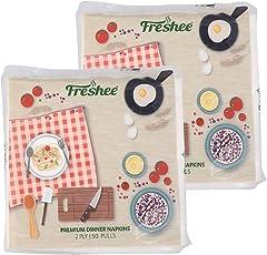 FRESHEE Dinner Napkin 50 pulls Each, Pack of 2
