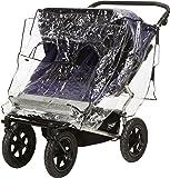 Playshoes Regenverdeck, Regenschutz, Regenhaube für den Zwillingswagen mit Kontaktfenster