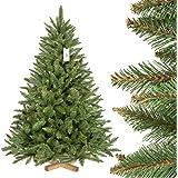 FairyTrees konstgjord julgran GRAN naturlig, grön stam, PVC, träställ, 150 cm