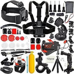 Erligpowht Zubehör für im Freien Sports Kameras GoPro Hero 4 3+ 3 2 1 und SJ4000 SJ5000