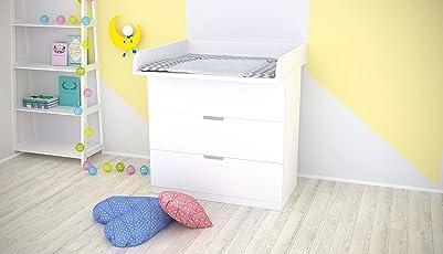Polini Kids Wickelaufsatz für IKEA Nordli weiß