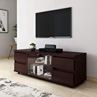 Amazon Brand - Solimo Archer Engineered Wood Low Height LCD Cabinet (Espresso Finish)