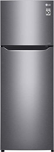 LG 333 Liters Top Mount Refrigerator, Dark Graphite Silver - GN-B402SQCB