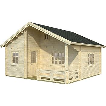 gartenhaus langeoog c70 blockhaus holzhaus 510 x 410 cm 70 mm ferienhaus garten. Black Bedroom Furniture Sets. Home Design Ideas