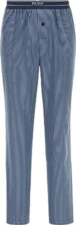 BOSS Mens Urban Pants Striped Pyjama Trousers in Lightweight Cotton poplin
