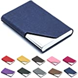 Padike Business Name Card Holder Luxury PU Leather & Stainless Steel Multi Card Case,Business Name Card Holder Wallet Credit