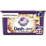 Dash Allin1 Pods Lessive en Capsules Liquides, Collection Souffle Précieux avec une Fraîcheur Longue Durée, 32 Lavages