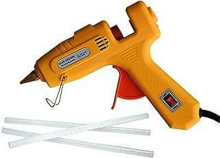 GLUN 60W 100W 60/100Watt Dual Wattage Hot Melt Glue Gun With Glue Sticks (Yellow Glue Gun With 3 Glue Sticks)
