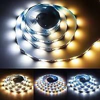 LED Strip 2M USB Dimmbar, 3000K Warmweiß & 6000K Kaltweiß Lichtband, LED Streifen mit Fernbedienung, ZEDYOE 5V DIY…