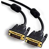 CSL - 1,5m câble High Speed DVI-D mâle vers DVI-D mâle   24+1 Dual link   contacts dorés   résolutions TV HD jusqu'à 2560x1600   2x noyaux ferrites   conducteur en cuivre étamé sans oxygène