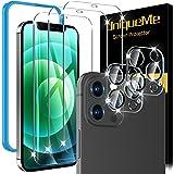 [5 Pack] UniqueMe 3 Pack Protector de Pantalla Compatible con iPhone 12 Pro Max (6.7 pulgadas) y 2 Pack Protector de lente de