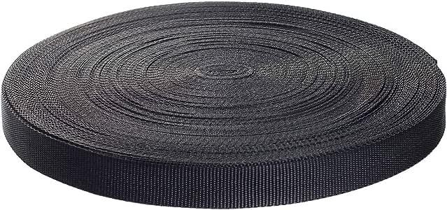 SCHWARZ 25m lang Bänder 25mm breit Gurtband Dicke 1,3mm
