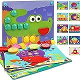 Nene Toys - Puzzle Infantil de Madera 8 en 1 – Juguete Educativo para Niños Niñas de 2 3 4 años – Mosaicos 3D con 8 Coloridos