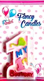 Jindal Party Products My 1st Birthday Candles for Girls   Birthday Party Decoration Items (1 Candle)