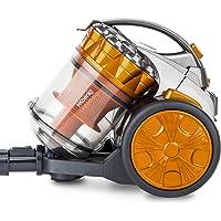 H.Koenig Aspirateur sans sac Multicyclonique traineau Compact+ orange STC60, Classe énergétique AAA, filtre HEPA…