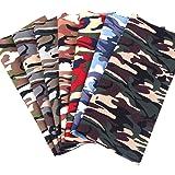 Travistar 7 Piezas 48 x 48cm Tela de Algodón Patchwork Paquete de tela de Flores patrón Floral de Costura de Material Textil