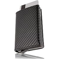 HAFEID portafoglio uomo slim - porta carte di credito schermato - portacarte di credito - portatessere smart - porta…
