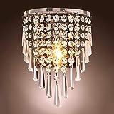 Lightess Applique da Parete di Cristallo Moderno Lampada da Parete Raffinata Illuminazione a Muro Decorativa per Soggiorno Sa