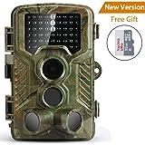 """COOLIFE Caméra de Chasse 16MP 1080P HD Pièges Photographiques 2.4"""" LCD 120° Grand Angle Étanche IP67 Vision Nocturne jusqu'à 20m Livré Une Carte Mémoire Micro SD DE 32 Go"""