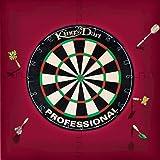 Kings Dart Dart-Set   Dartboard Komplettset: Turnier-Dartscheibe + Dart-Surround   Sisal-Borsten, Spider-Feldbegrenzung   Schutz für Wand u. Darts   Für Soft- u. Steeldarts   Markenqualität