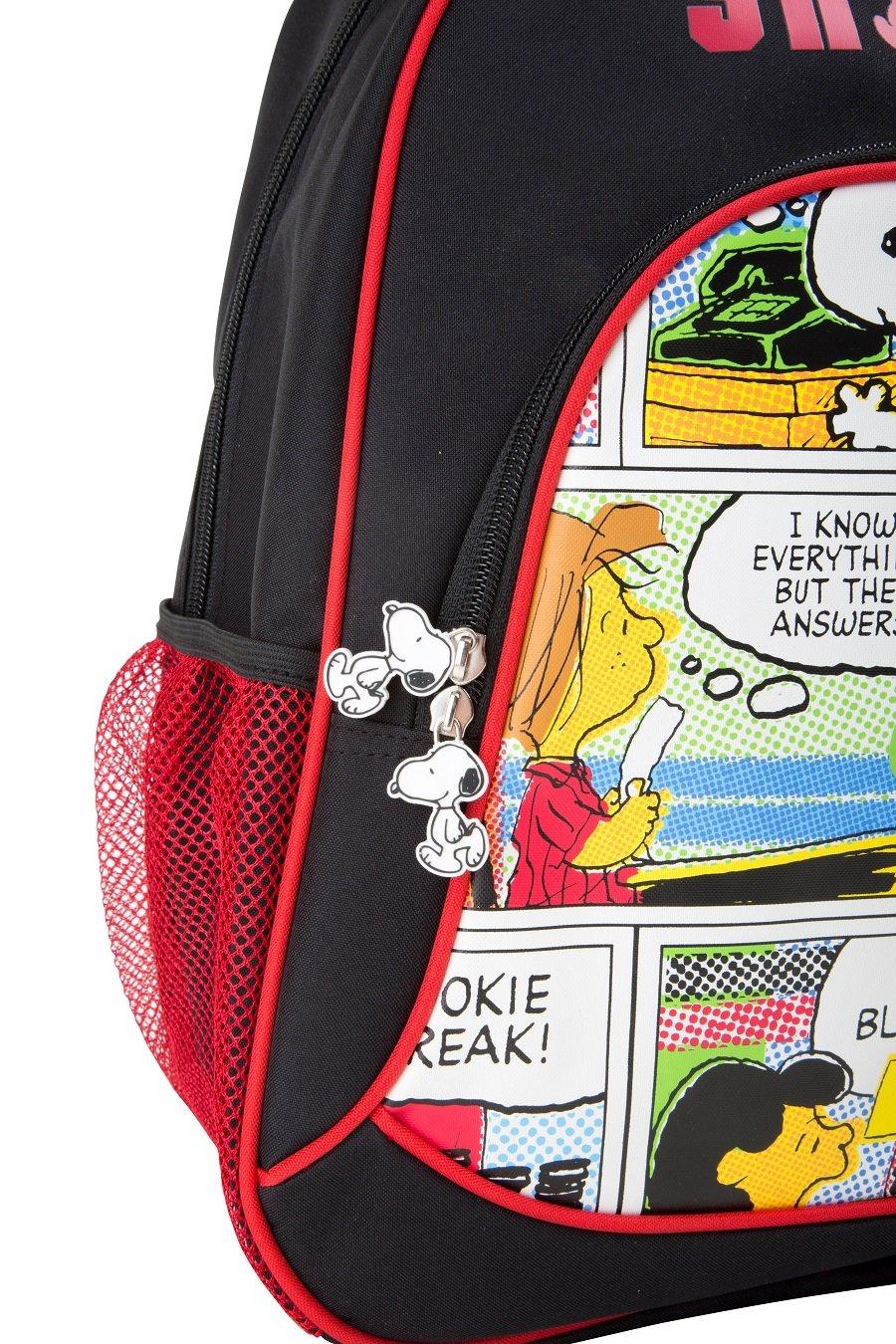 819Xv7K2nBL - Mochila escolar Snoopy para niños mochila mochila escolar | incluye dos bolsillos de malla a los lados y mucho espacio de almacenamiento | acolchado óptimo de las correas de transporte | tamaño aprox