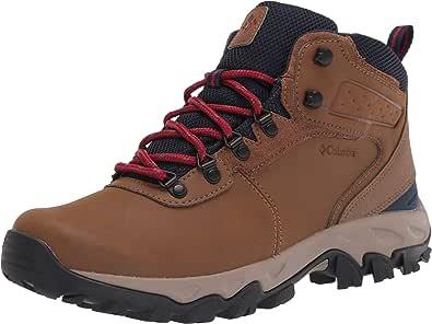 Columbia Men's Newton Ridge Plus II Waterproof Hiking Boot, Light Brown/Red Velvet, 9.5 Wide US