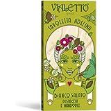 VIALETTO Adelina | Cioccolato Bianco Salato con Pistacchi e Mandorle| Tavoletta da 90 grammi