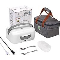 STN Gamelle Chauffante 12v 24v 220v 75W Boite Chauffante Repas 1.5L Lunch Box Chauffante Electrique Et Sac De Transport…