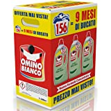 Omino Bianco Detersivo Lavatrice Liquido, Fresco Profumo con Essenza di Aloe Vera, Formato Convenienza, 156 Lavaggi, 2600 ml