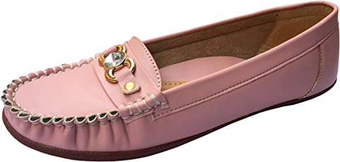 Chinelo Fux Leather Anti-Skid Resilient Loafer Shoes Moccasins for Women