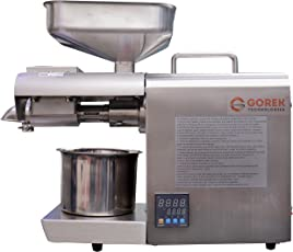 GT-OT Oil Press Machine 600W Advanced Technology- with Temperature Controller and Higher Capacity (Food Grade Stainless Steel)