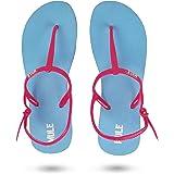 MULE KEEP MOVING Women's Sea Blue & Pink Fashion Sandal