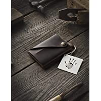 Portafoglio minimalista in pelle/portacarte   Wood Brown portapacchi Crazy Horse in pelle, vintage, portamonete di…