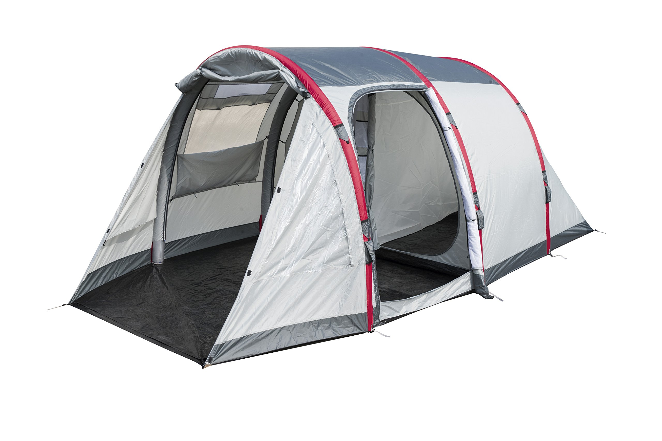 Pavillo Unisex's BW68077 Sierra Ridge Air Inflatable 4-Man Tunnel Tent Measures L4.85m x 2.79m x H2m, Grey, 4 Person 6