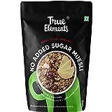 True Elements Muesli No Added Sugar 1.2 kg - Wholegrain Cereal, Super Saver Pack, Muesli Sugar Free, Diet Food