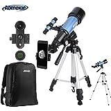 Aomekie Astronomisches Teleskop 70/400 Fernrohr Teleskop für Kinder Einsteiger Amateur-Astronomen mit 10X Smartphone Adapter Stativ Tasche Barlow und Mondfilter