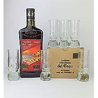 Vecchio Amaro del Capo Red Hot Edition 70 cl e n° 6 Bicchieri Freezer del Capo